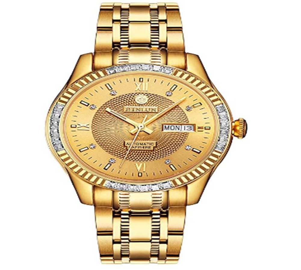 Reloj de oro de hombre BINLUN BL0048G