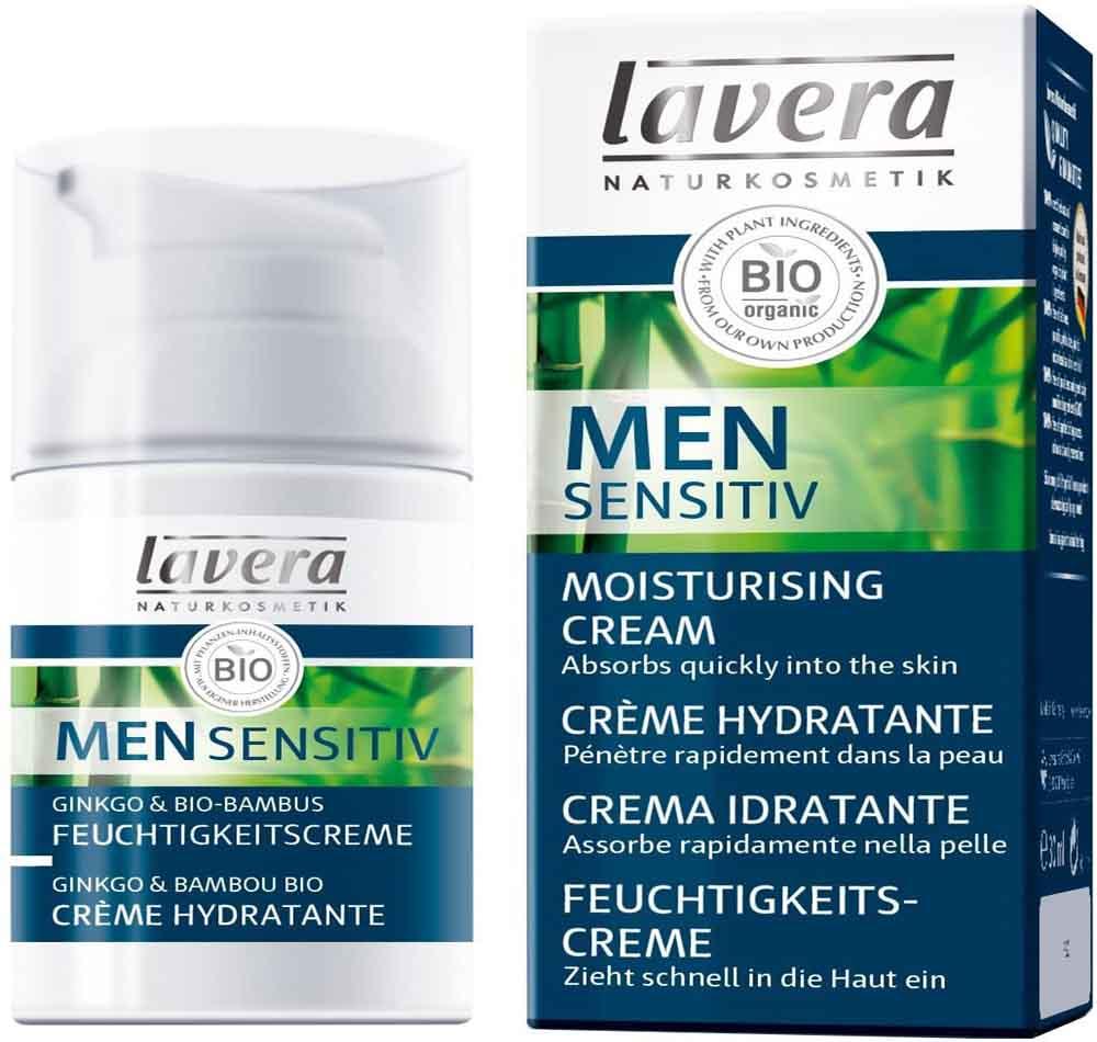 Crema facial para hombre Lavera Men Sensitiv