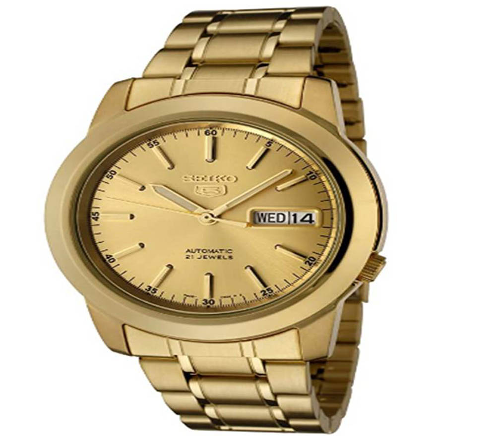 Reloj de oro de hombre Seiko SNKE56